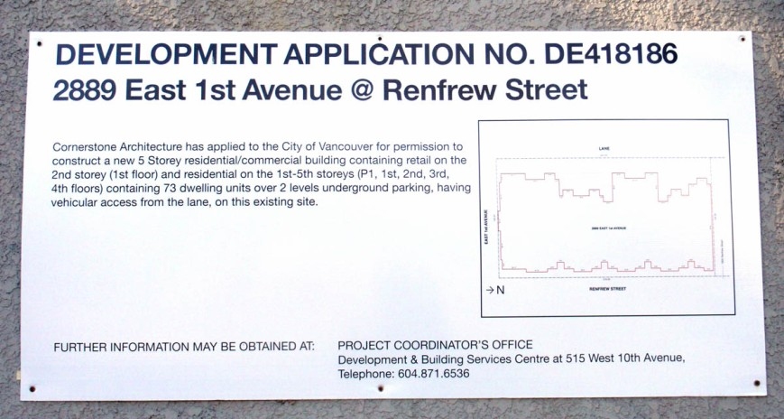 Renfrew and East 1st Avenue application
