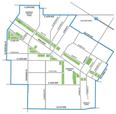 City of Vancouver map on RM-9 areas and enlargement (Earles)
