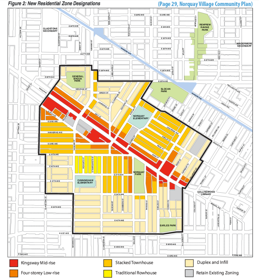 Norquay Plan areas