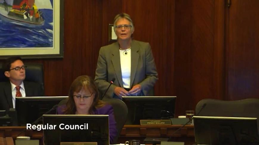 Penny Ballem at Regular Council Meeting, September 15, 2015