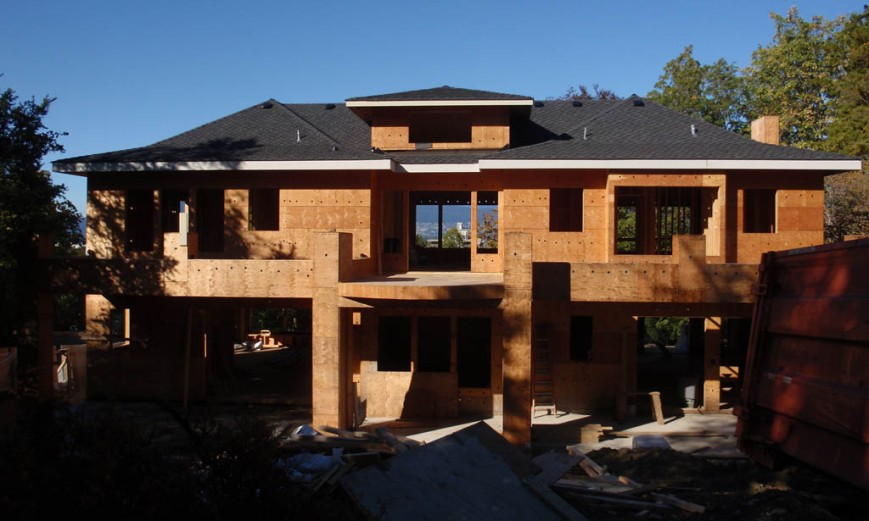 New home under construction in Shaughnessy in proposed HCA zone