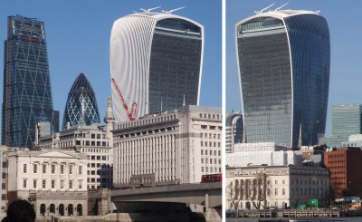 """Walkie Talkie"" highrise in London, UK (photos: March 2015)"