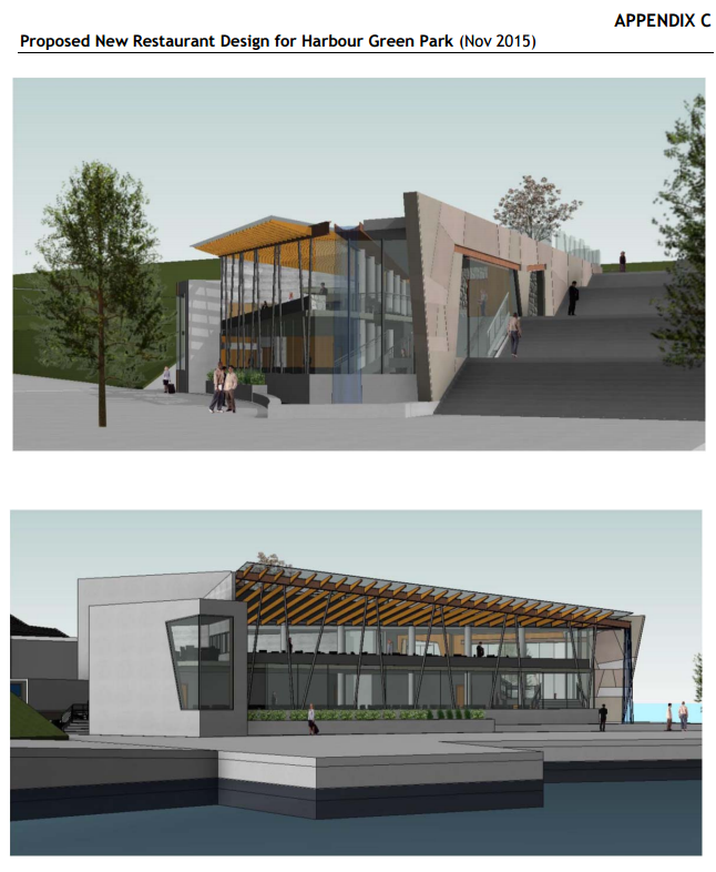 Harbour Green Restaurant proposed design Nov 2015
