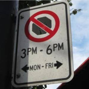 No parking sign WECP 2013