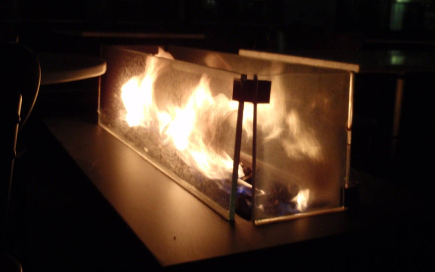 open flame display