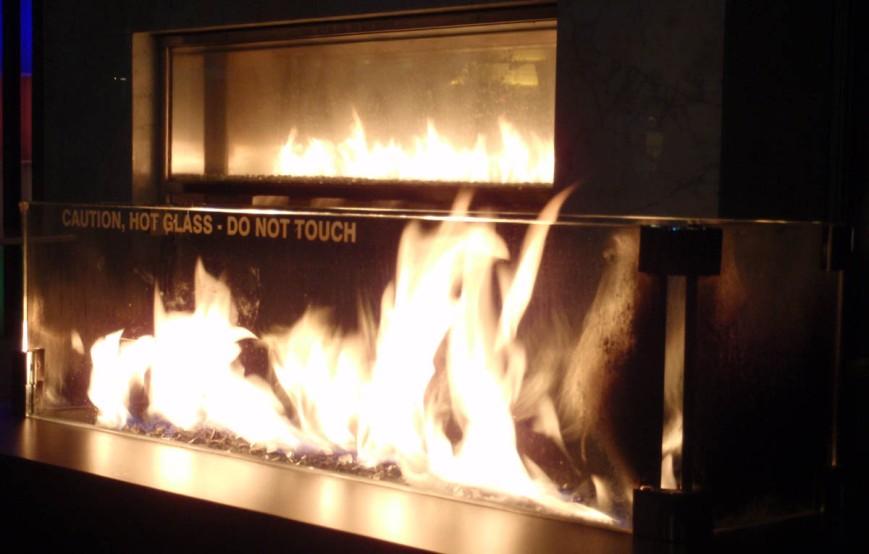 Open flame at Telus Garden