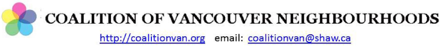 Coalition of Vancouver Neighbourhoods CVN header