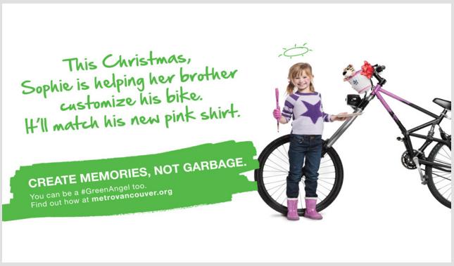 Metro Vancouver Create Memories not garbage 2015 Christmas