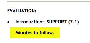 UDP minutes to follow
