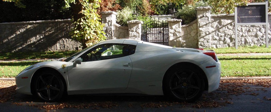 Ferrari parked on a residential Shaughnessy street