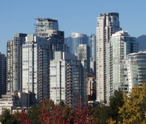 Towers downtown Vancouver