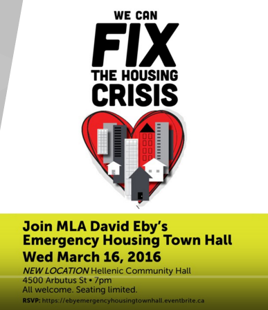 David Eby housing meeting 16-Mar-2016 logo