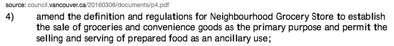 neighbourhood grocery store bylaw