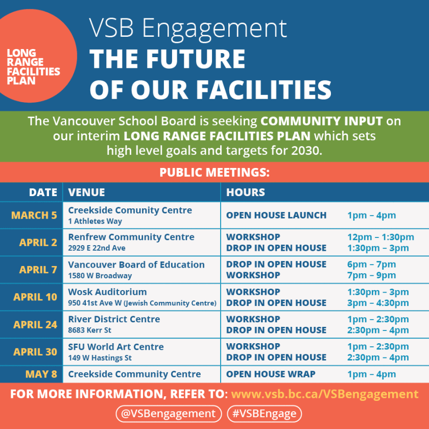 VSB engagement schedule Mar-May-2016