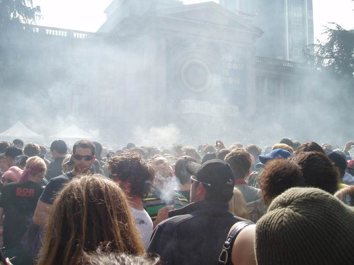4/20 Marijuana demonstration