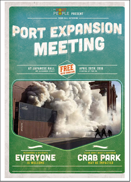 Port Expansion Meeting poster April 2016