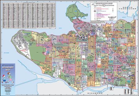 Vancouver School catchment map April 2016, compressed