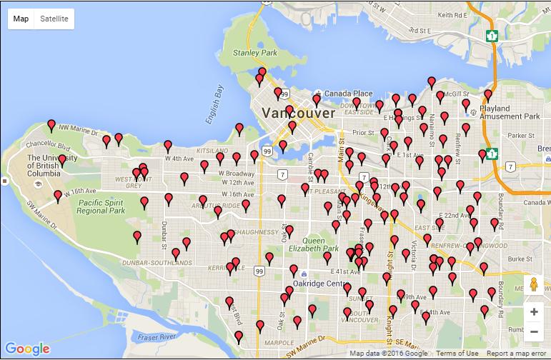 VSB schools map Google, April 2016, E