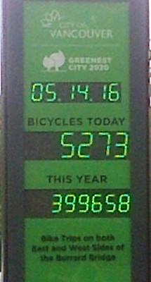 Burrard Bridge 399658 bike trips 14-May-2016