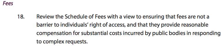 FOI fees