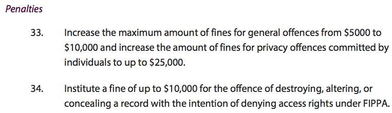 FOI penalties