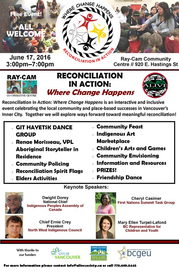 Reconciliation in action event, Ray Cam, 17-June-2016