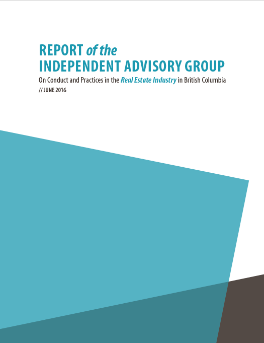 Report cover IAG on Real Estate Industry, June 2016