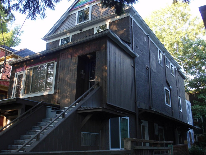 Empty rental building in Grandview-Woodland, 8 units off the market