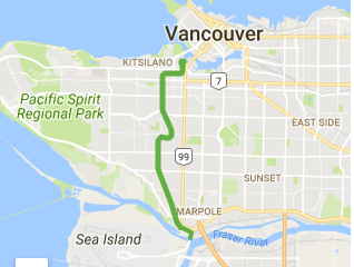 Arbutus Greenway route Google Maps Aug 20216