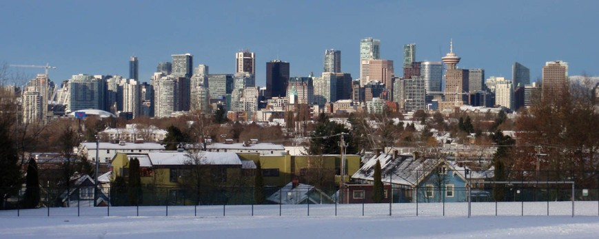 Vancouver skyline winter
