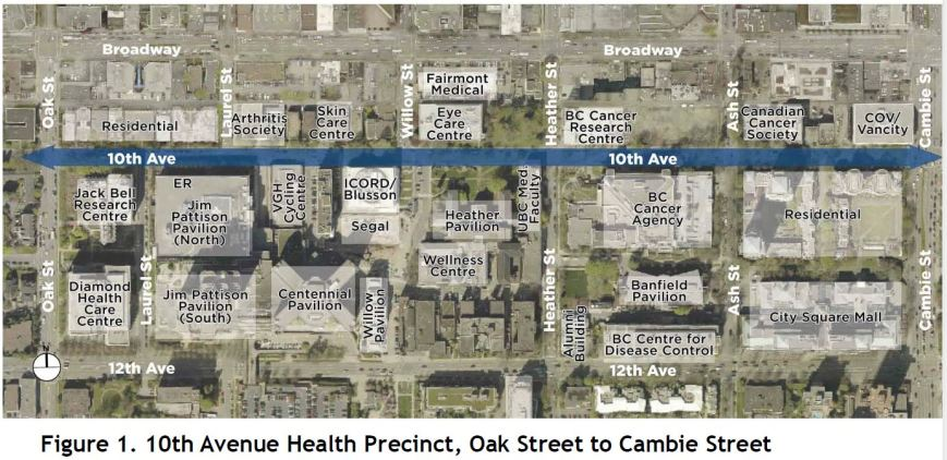 CoV 10th Avenue Health Precinct, Oak to Cambie, May 2017