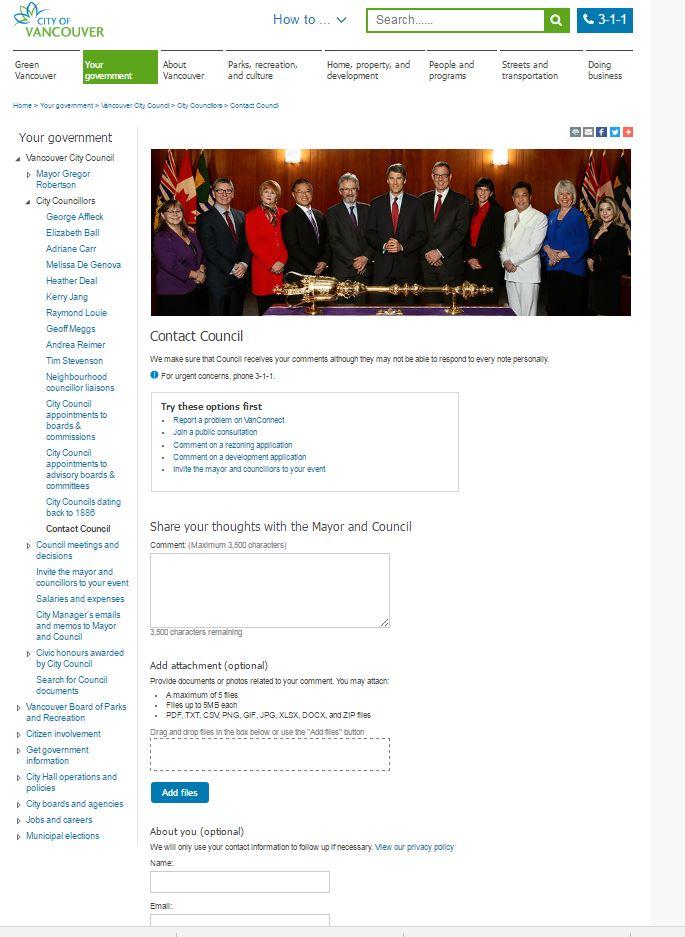 Mayor and Council access page 8-Jun-2017
