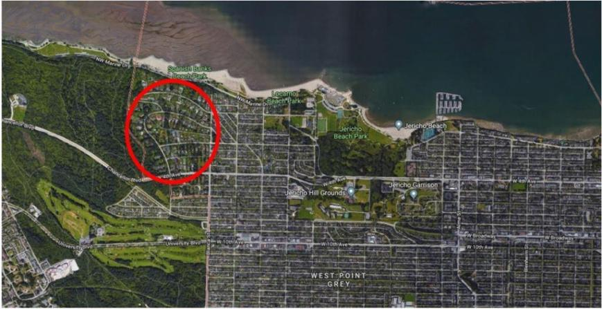 North West Point Grey red circle Google Dec 2017