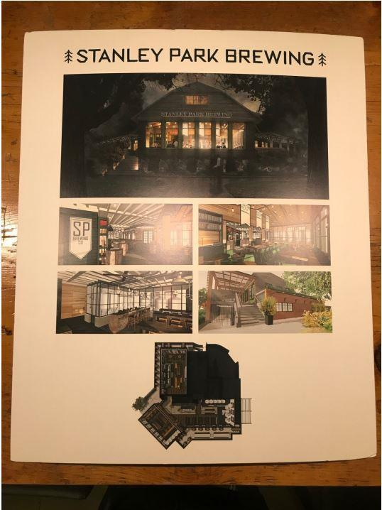 Stanley Park Brewing poster, from report to Council 17-Jan-2018