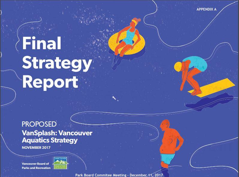 VanSplash Vancouver Aquatics Strategy cover page Dec 2018