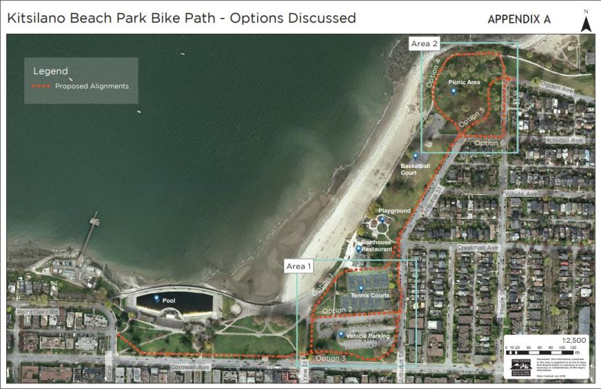 CoV Park Board Kits Beach Park Bike Path - options discussed, 12-Mar-2018