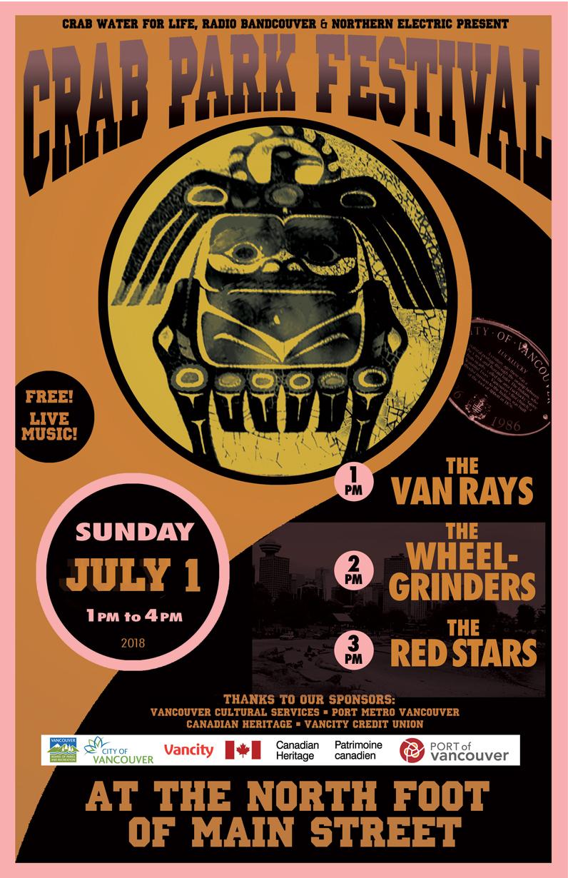 Crab Park July 2018 poster