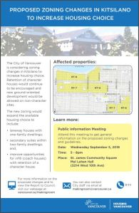 CoV proposed RT-7 RT-8 zoning changes kitsilano info meeting 5-Sep-2018
