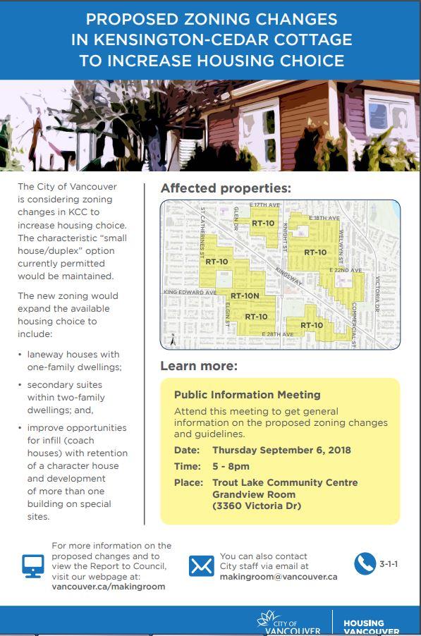 CoV RT-10 Kensington Cedar Cottage info mtg 6-Sep-2018