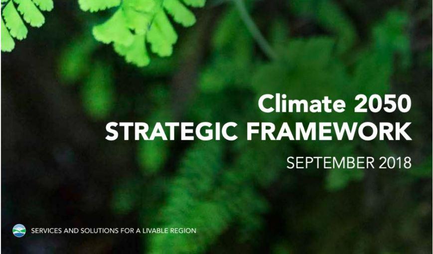 Metro Vancouver Climate 2050 Strategic Framework, 2018