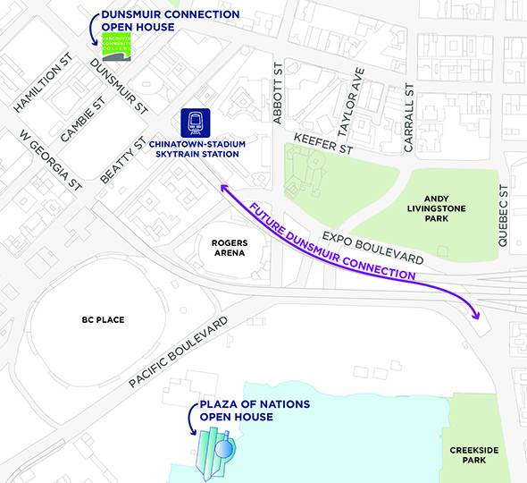 Dunsmuir connection open house Feb 2020